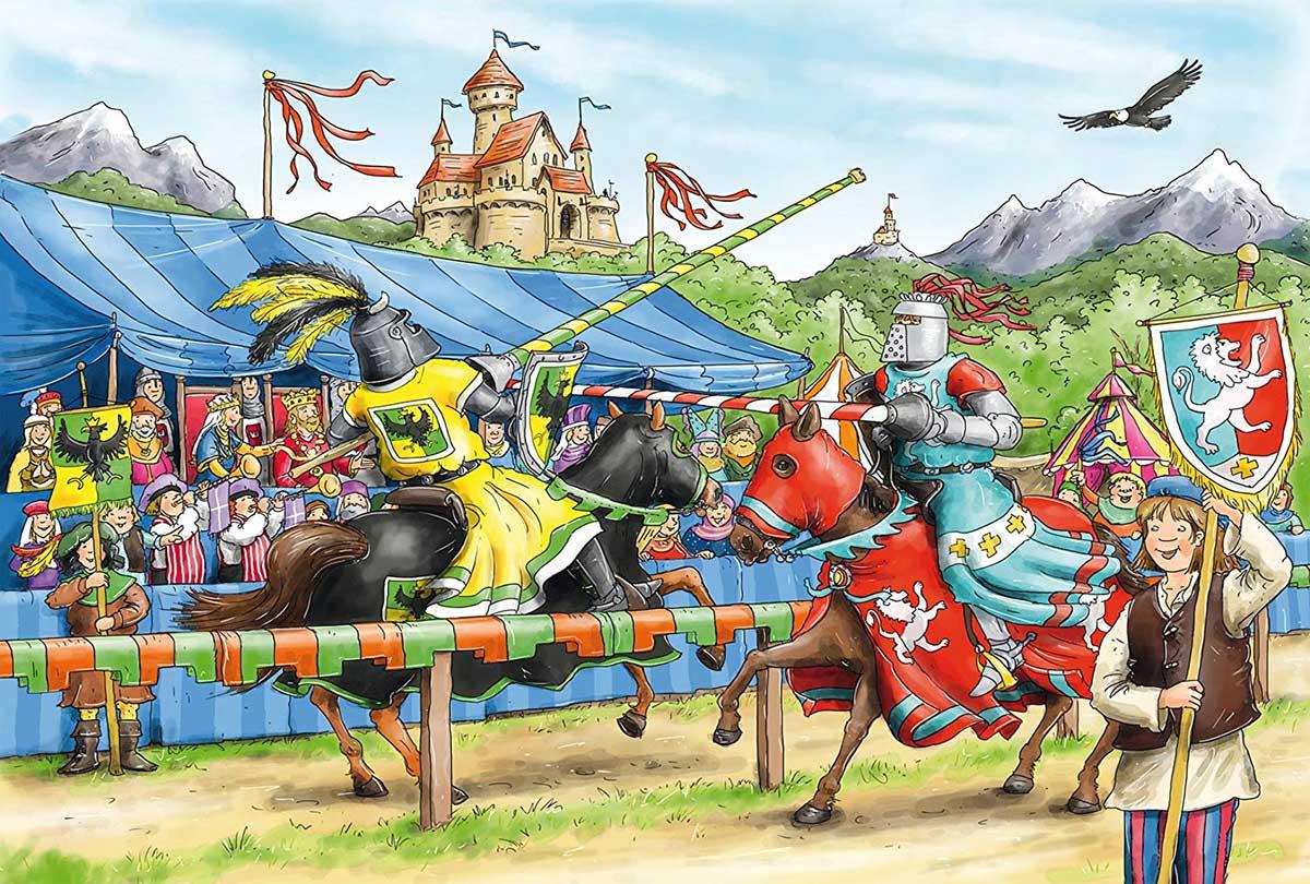 Jousting Knight Fantasy Jigsaw Puzzle