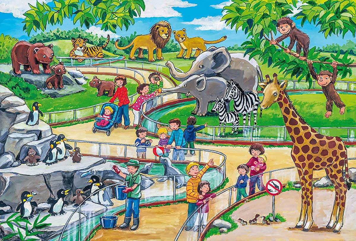 A Day at the Zoo Animals Jigsaw Puzzle