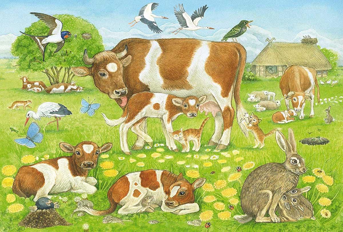Animal Family Animals Jigsaw Puzzle