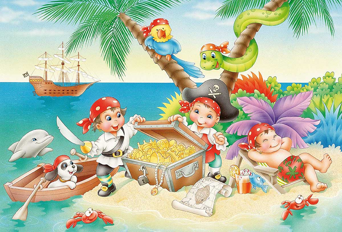 Gang of Pirates Pirates Jigsaw Puzzle