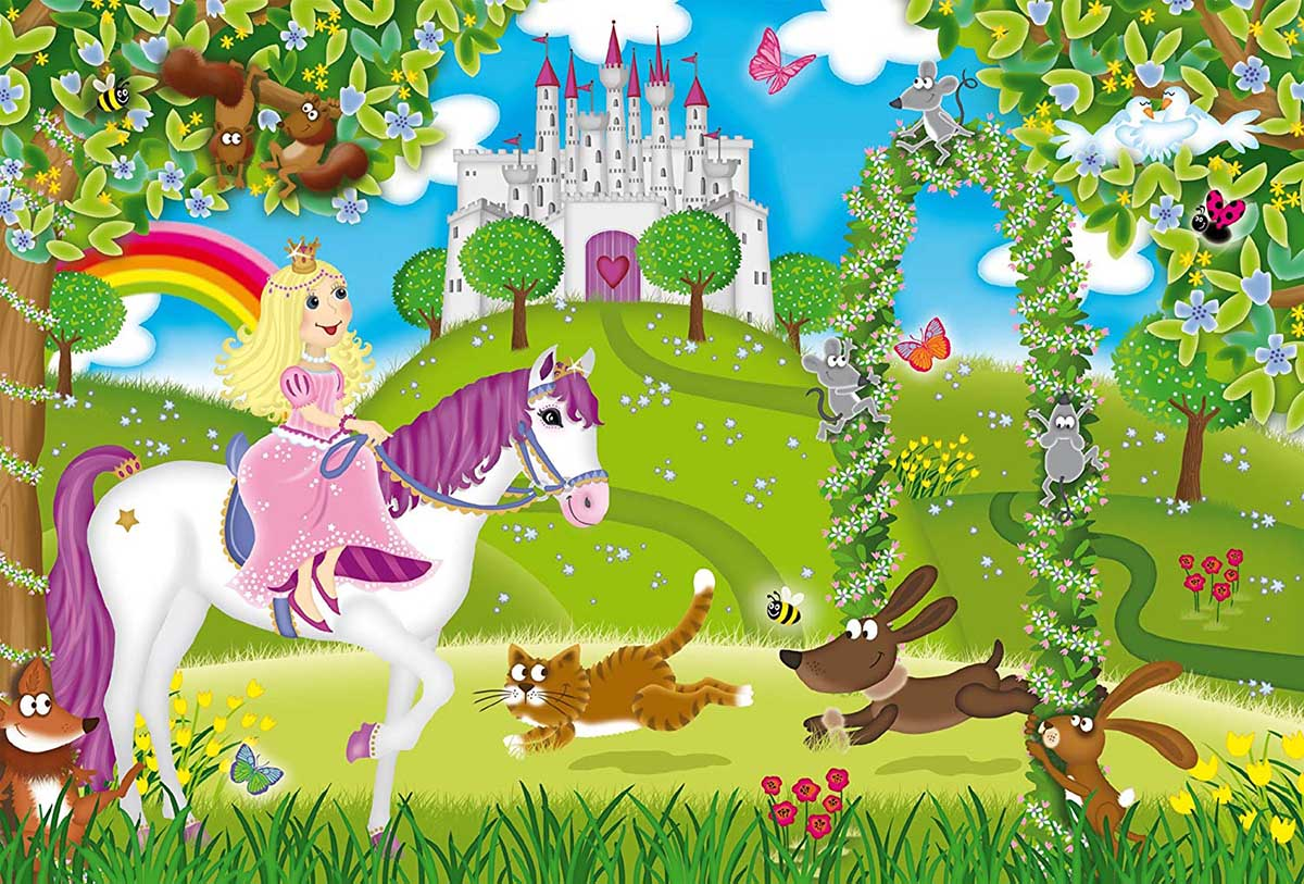 Princess in the Castle Garden Castles Jigsaw Puzzle