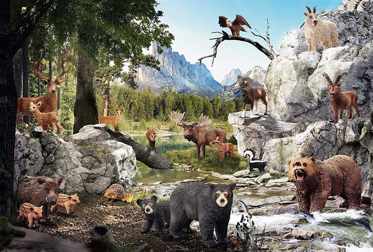 The Animals Of The Forest Animals Jigsaw Puzzle