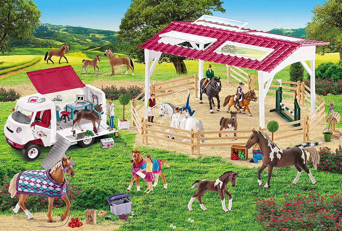 Riding School and Veterinarian Horses Jigsaw Puzzle