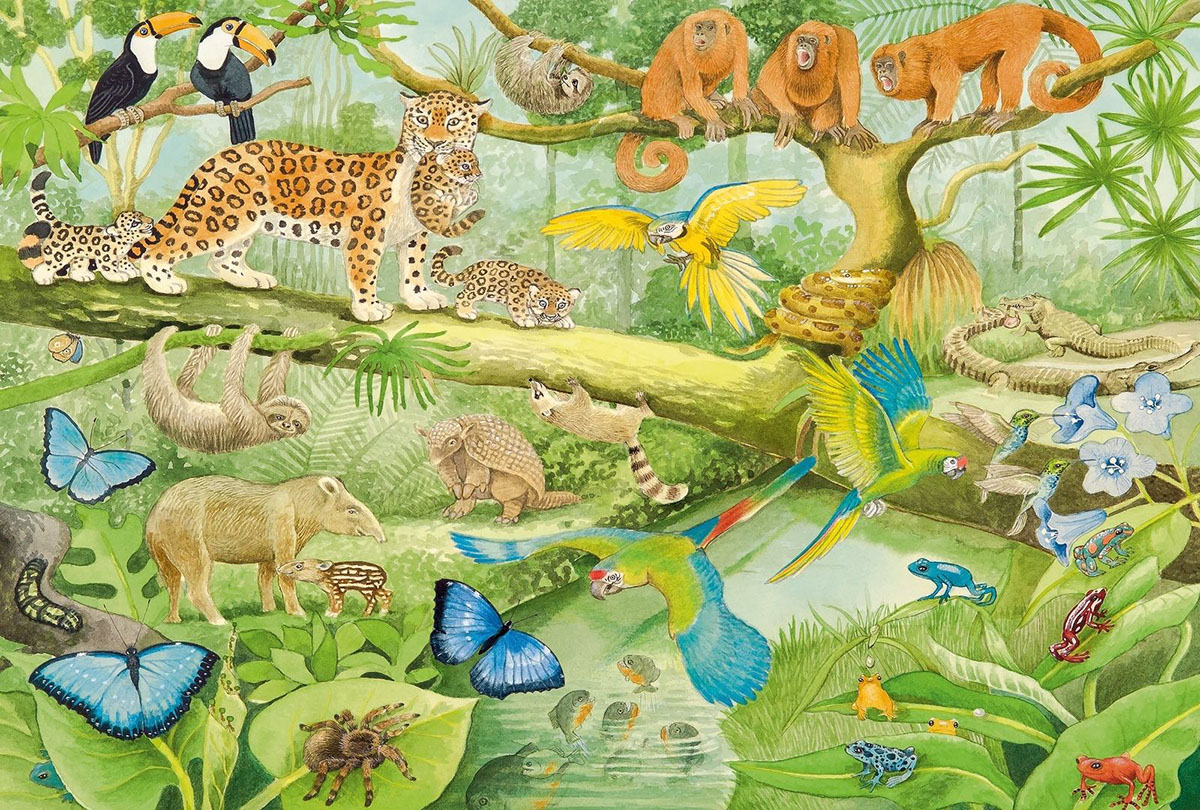 Animals In The Jungle Jungle Animals Jigsaw Puzzle