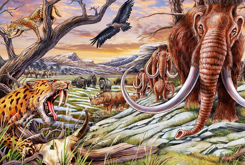 Animals Of The Ice Age Dinosaurs Jigsaw Puzzle