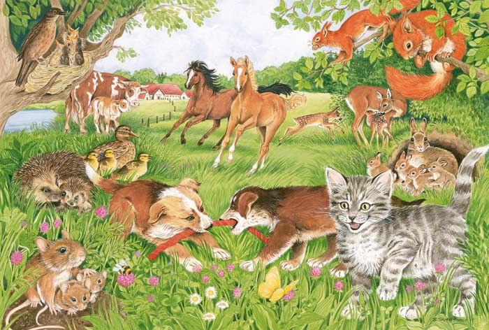 The Lives Of Animal Babies Animals Jigsaw Puzzle
