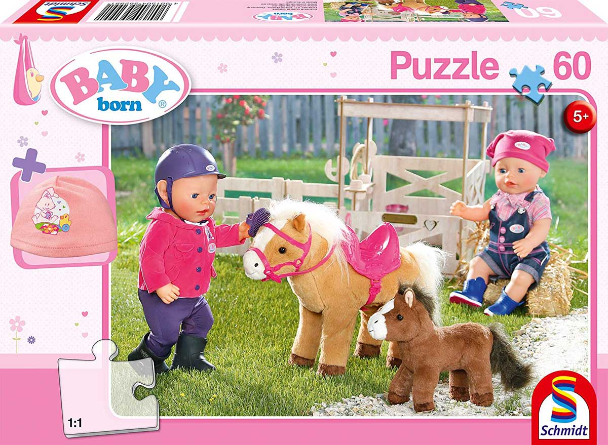 At The Pony farm Horses Jigsaw Puzzle