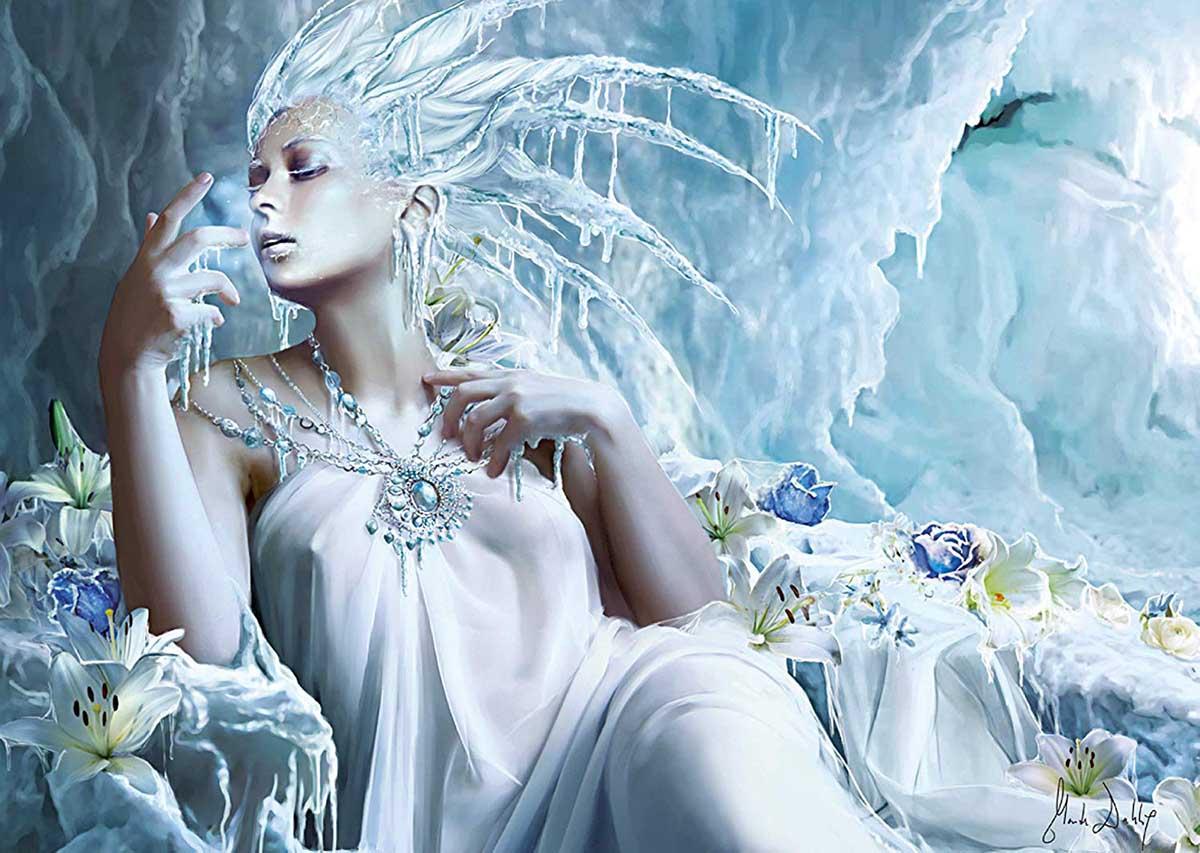 Открытка женщина богиня