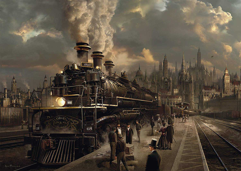 Locomotive Skyline / Cityscape Jigsaw Puzzle