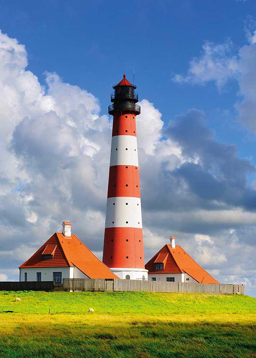Westerhever Lighthouse Lighthouses Jigsaw Puzzle