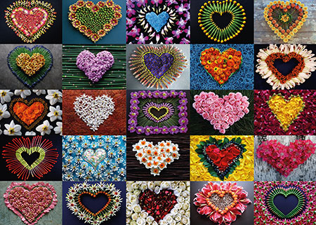 Hearts For Madalene Jigsaw Puzzle
