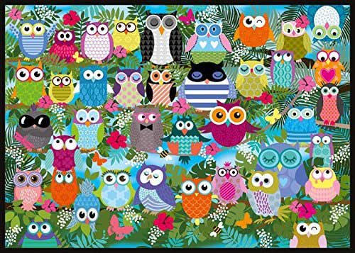 Collage of Owls Birds Jigsaw Puzzle
