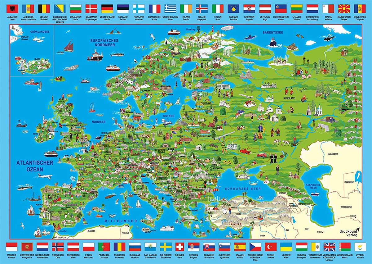 Discover Europe Maps / Geography Jigsaw Puzzle