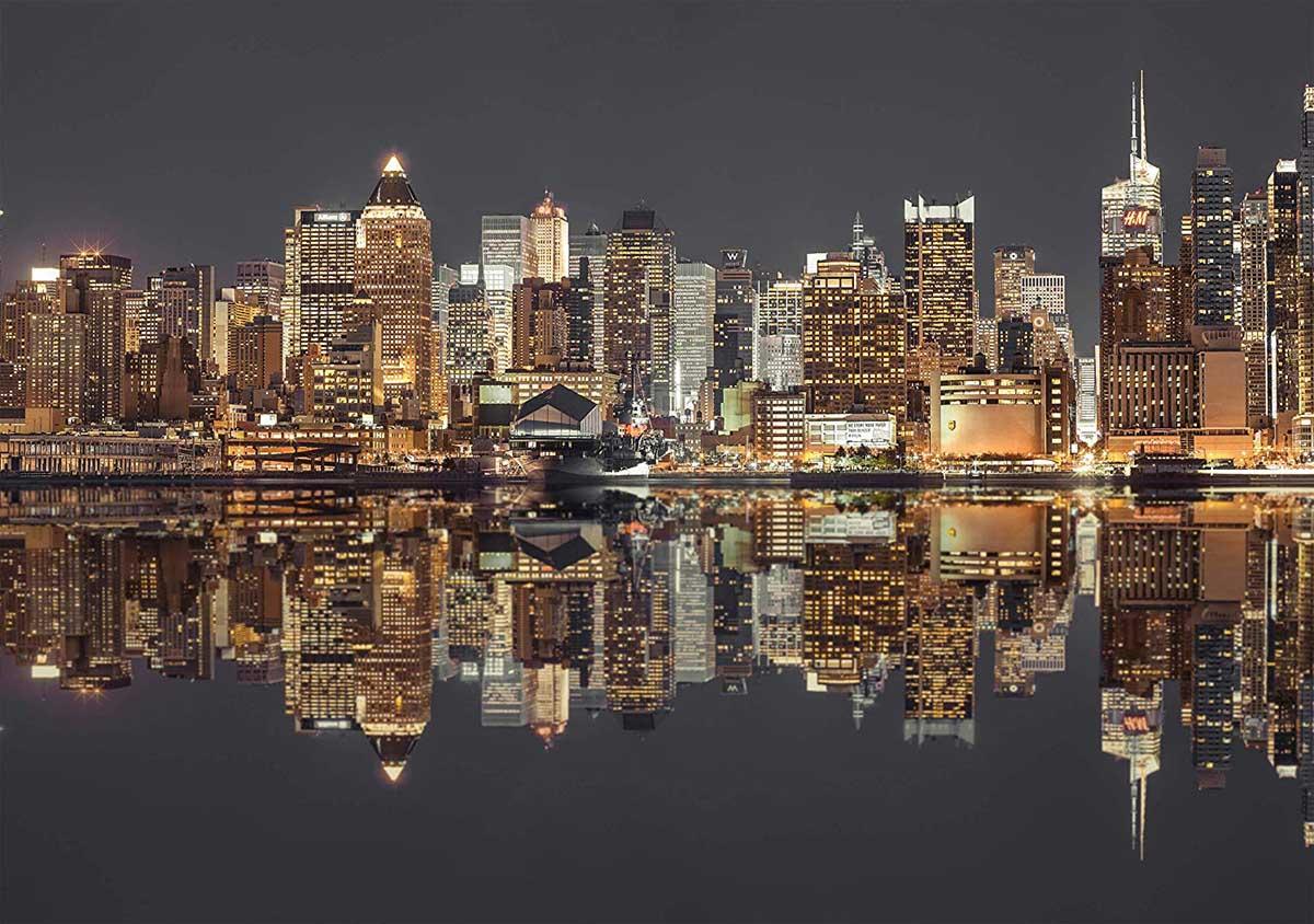 New York Skyline At Night New York Jigsaw Puzzle