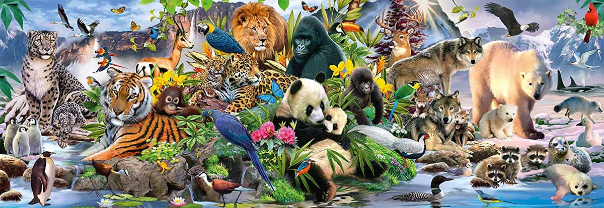 Colorful Animal Kingdom Animals Jigsaw Puzzle