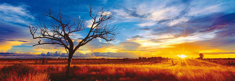 Desert Oak At Sunset Landscape Jigsaw Puzzle