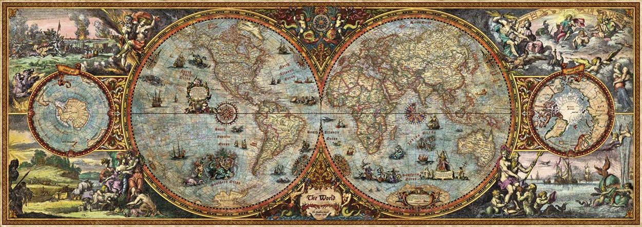 Hemisphere Map Maps / Geography Jigsaw Puzzle