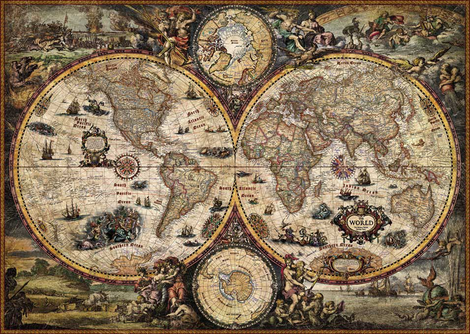 Vintage World Maps / Geography Jigsaw Puzzle