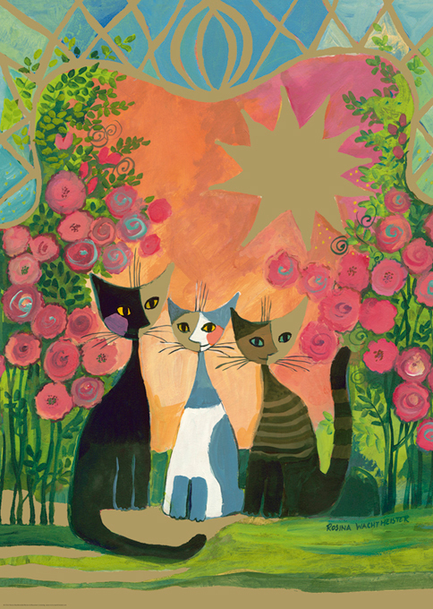 Roses Cats Glitter / Shimmer / Foil Puzzles