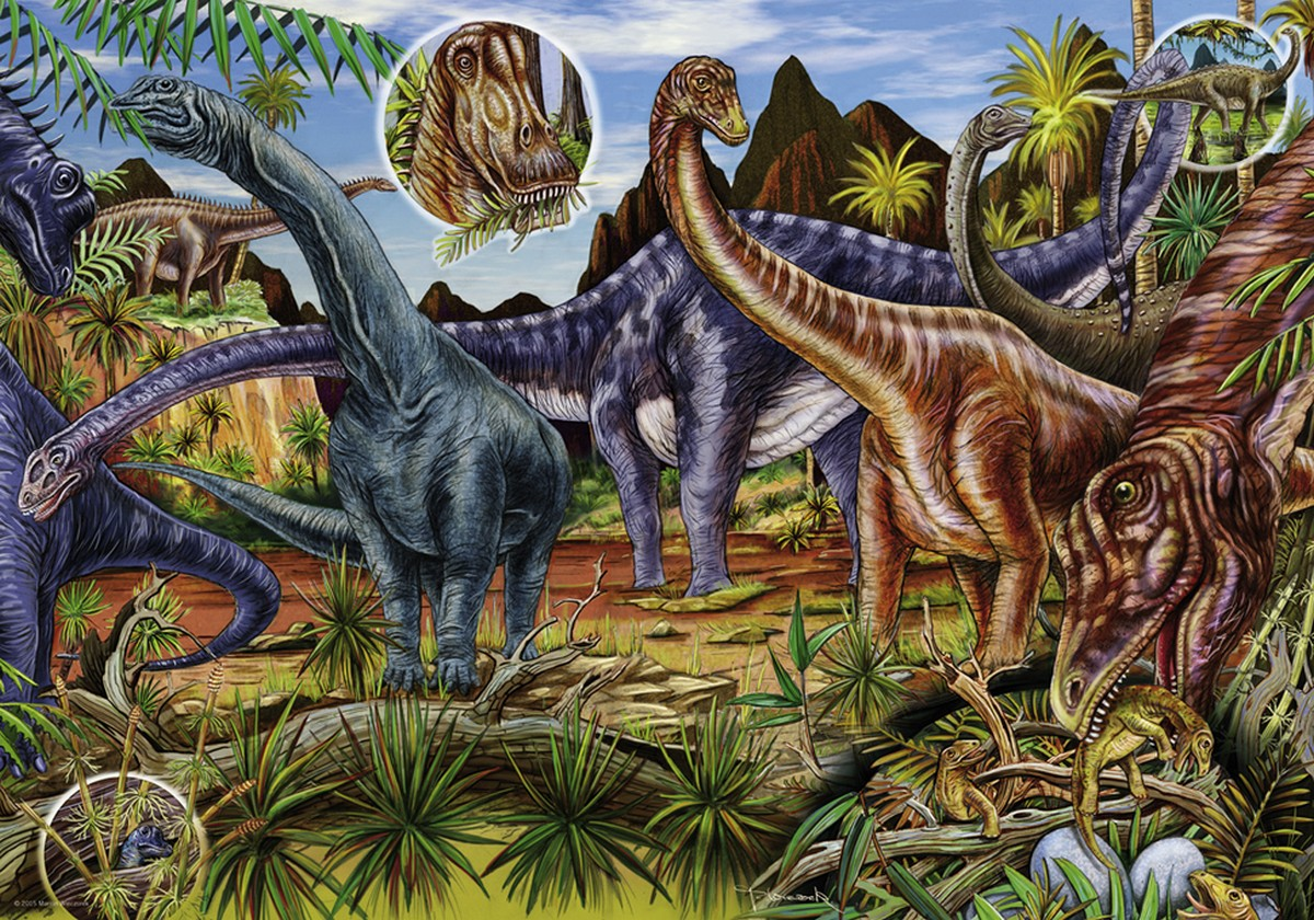 Herbivores Dinosaurs Jigsaw Puzzle