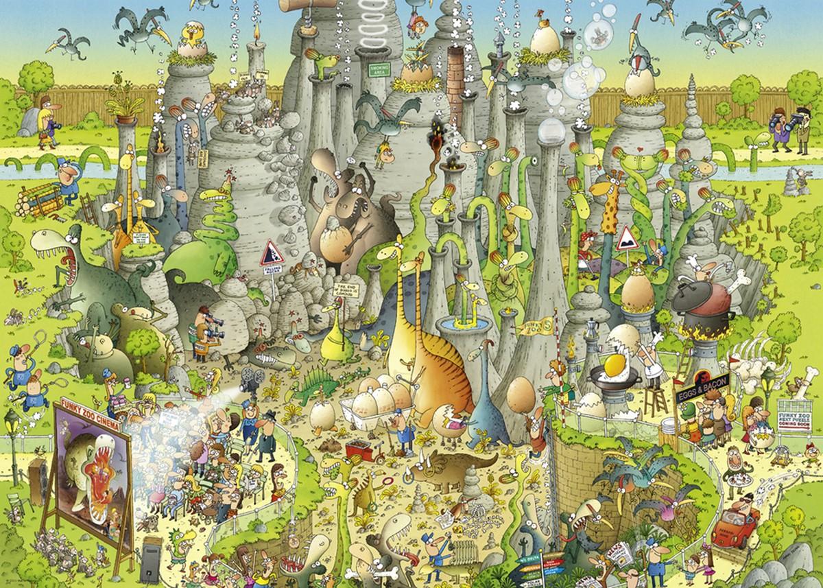Jurassic Habitat Animals Jigsaw Puzzle