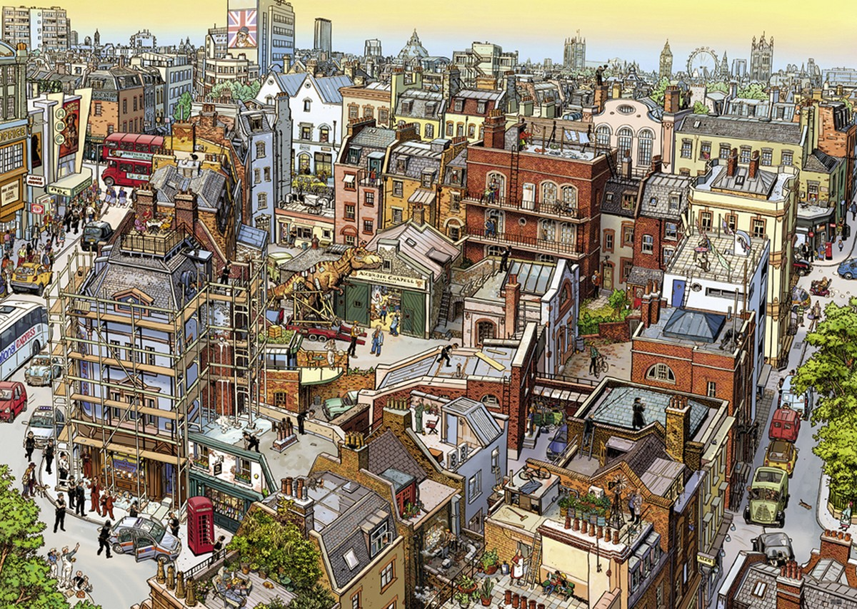 Sherlock & Co. Skyline / Cityscape Jigsaw Puzzle
