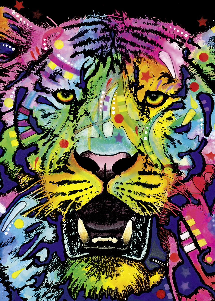 Wild Tiger Graphics / Illustration Jigsaw Puzzle