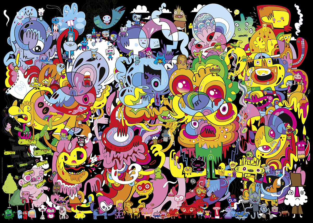 New Psychedoodlic Cartoons Jigsaw Puzzle