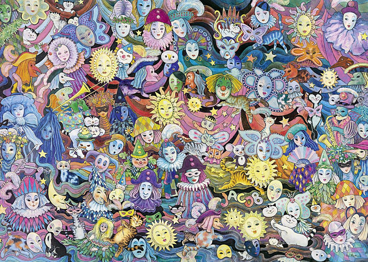 Masquerade Cartoons Jigsaw Puzzle