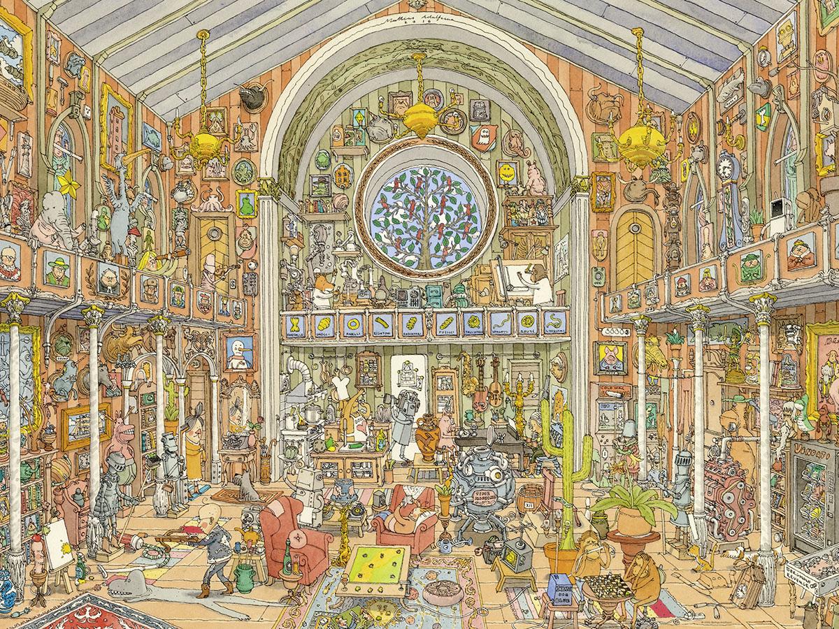 Curiosity Cabinet Cartoons Jigsaw Puzzle