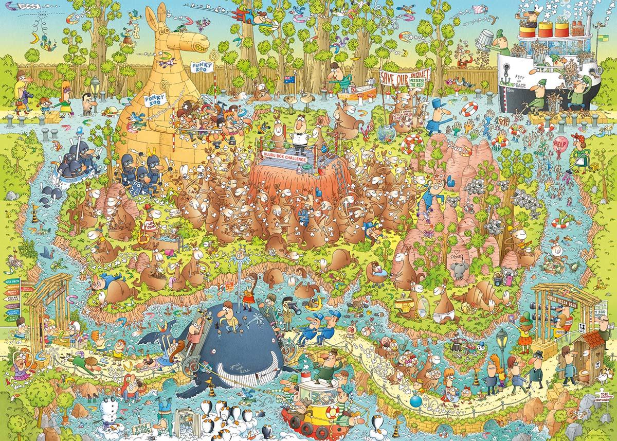 Australian Habitat Wildlife Jigsaw Puzzle
