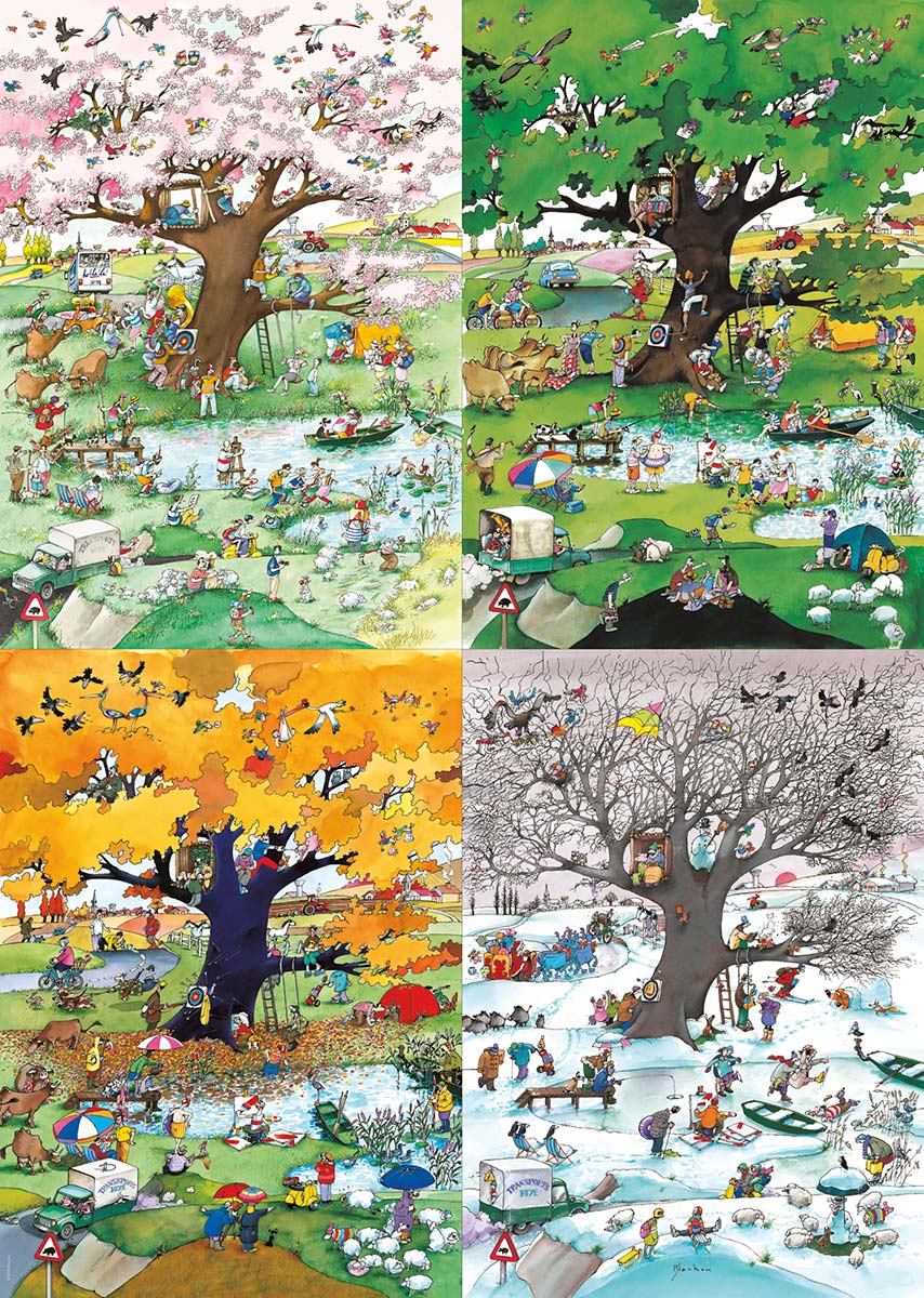 4 Seasons - Scratch and Dent Cartoons Jigsaw Puzzle
