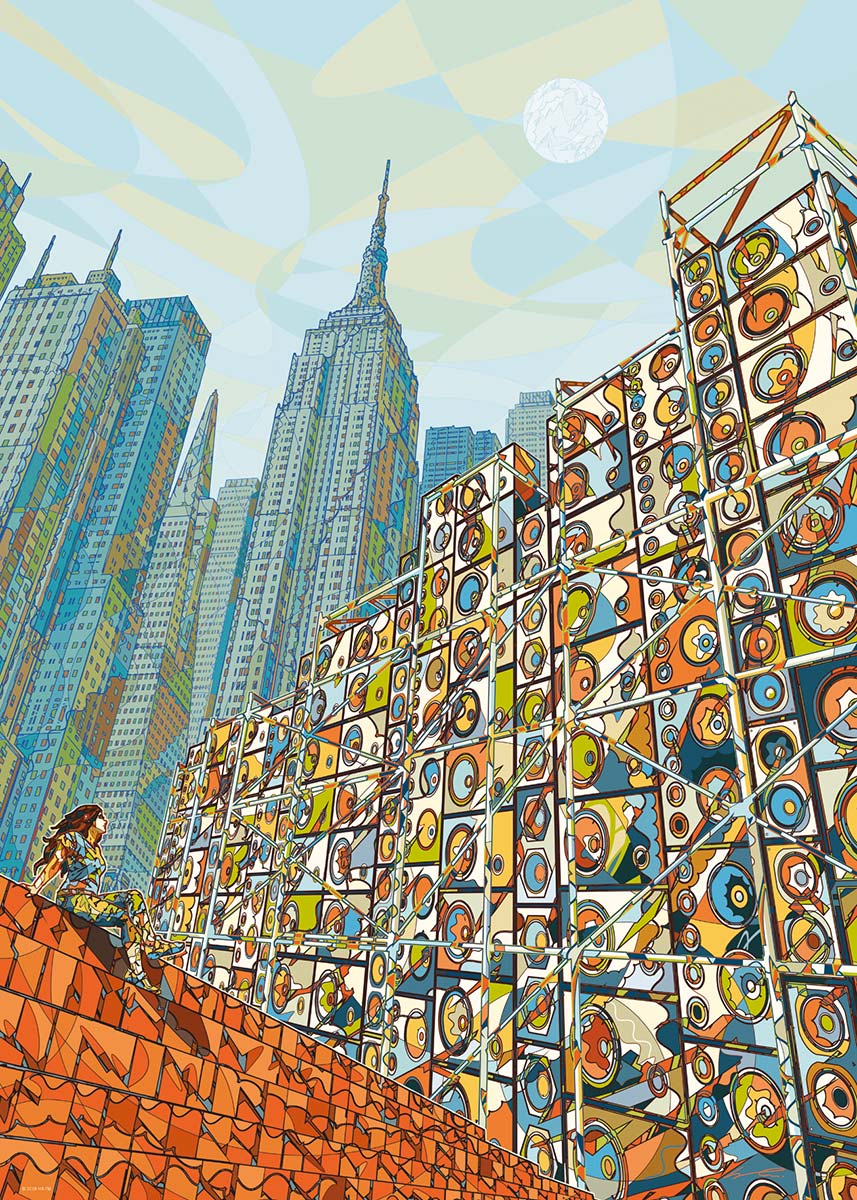 Home in Mind Skyline / Cityscape Jigsaw Puzzle