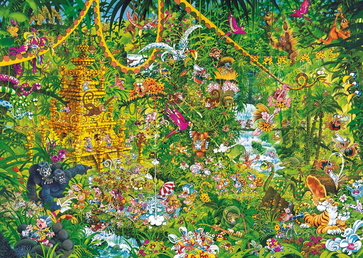 Deep Jungle Jungle Animals Jigsaw Puzzle