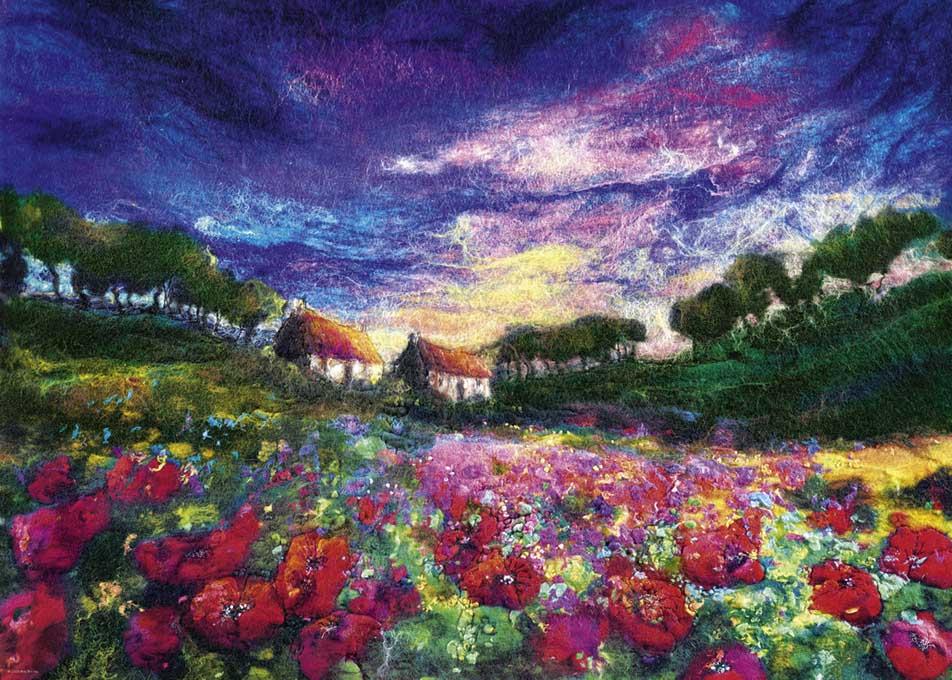 Sundown Poppies Flowers Jigsaw Puzzle
