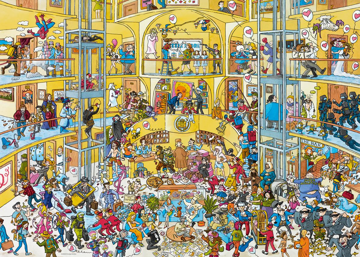 Hotel Life Cartoon Jigsaw Puzzle