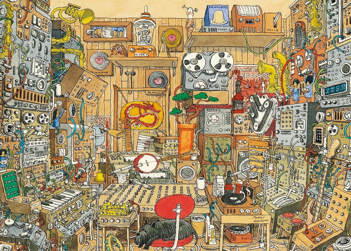 Music Maniac Cartoons Jigsaw Puzzle
