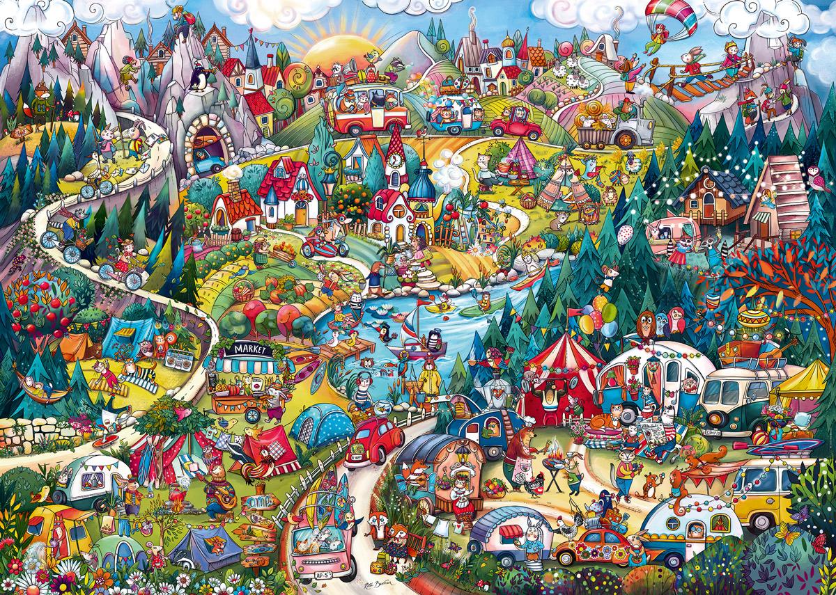 Go Camping! Cartoon Jigsaw Puzzle