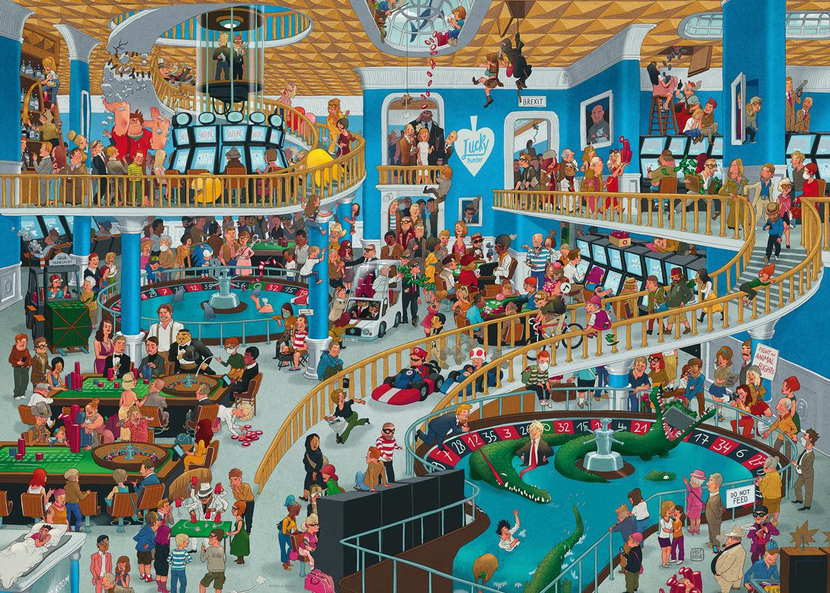 Chaotic Casino Cartoon Jigsaw Puzzle