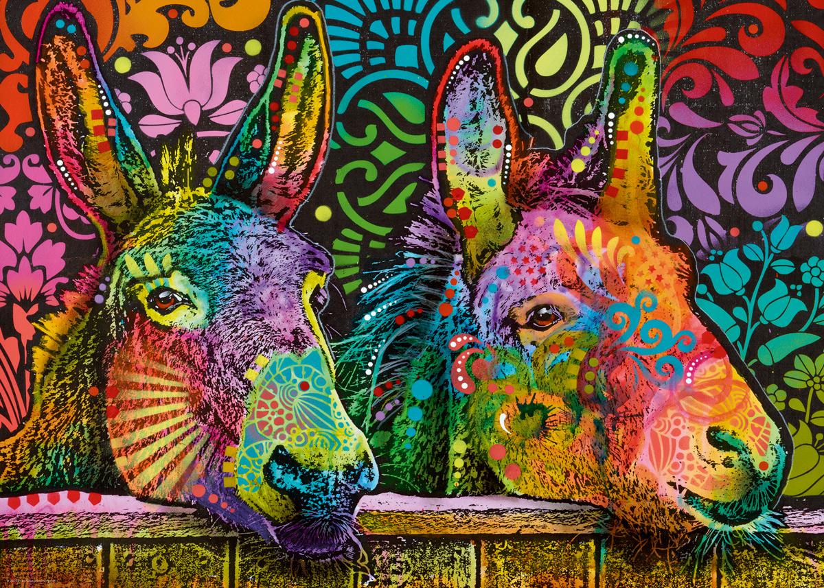Donkey Love, Jolly Pets Graphics / Illustration Jigsaw Puzzle
