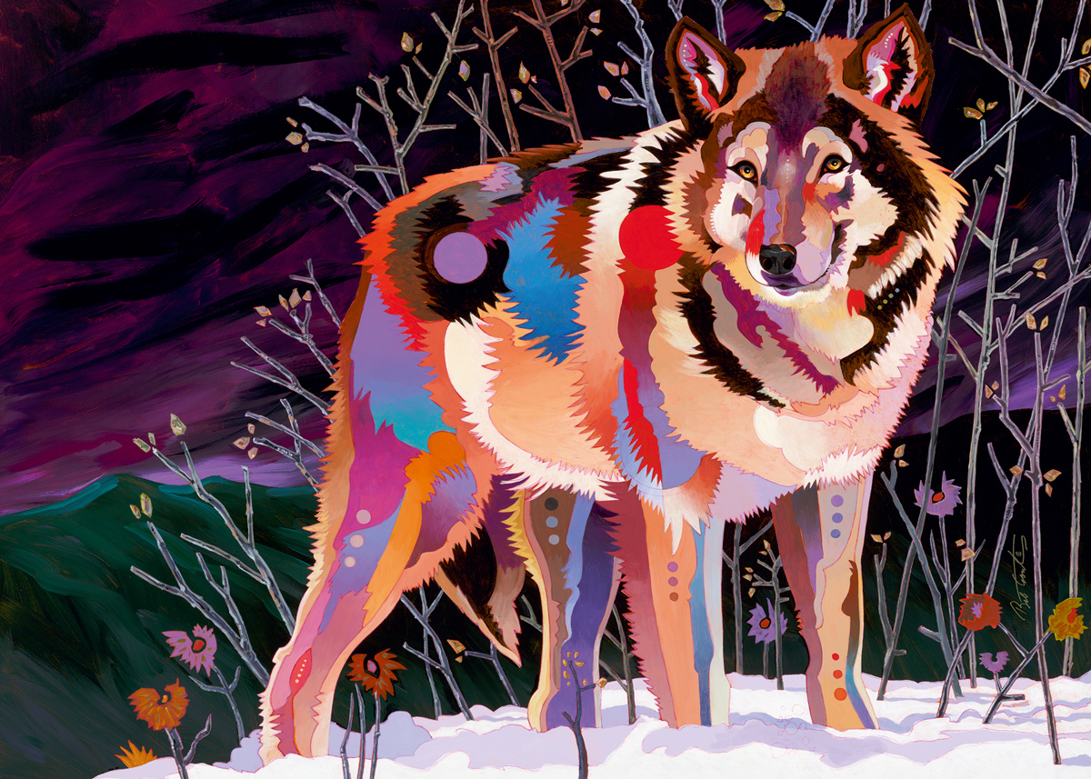 Night Wolf Wolves Jigsaw Puzzle