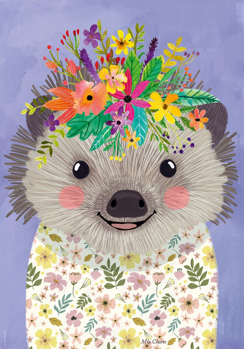 Funny Hedgehog Animals Jigsaw Puzzle