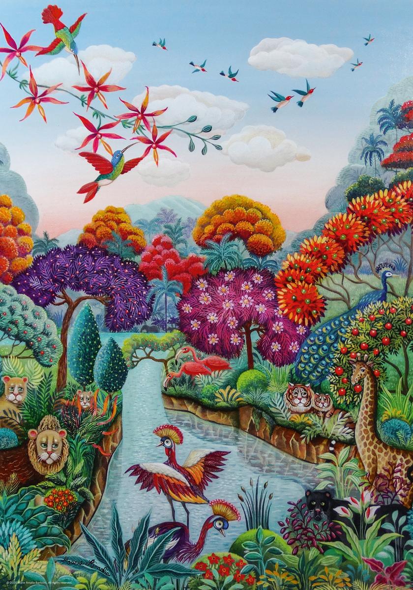 Bird Paradise Jungle Animals Jigsaw Puzzle