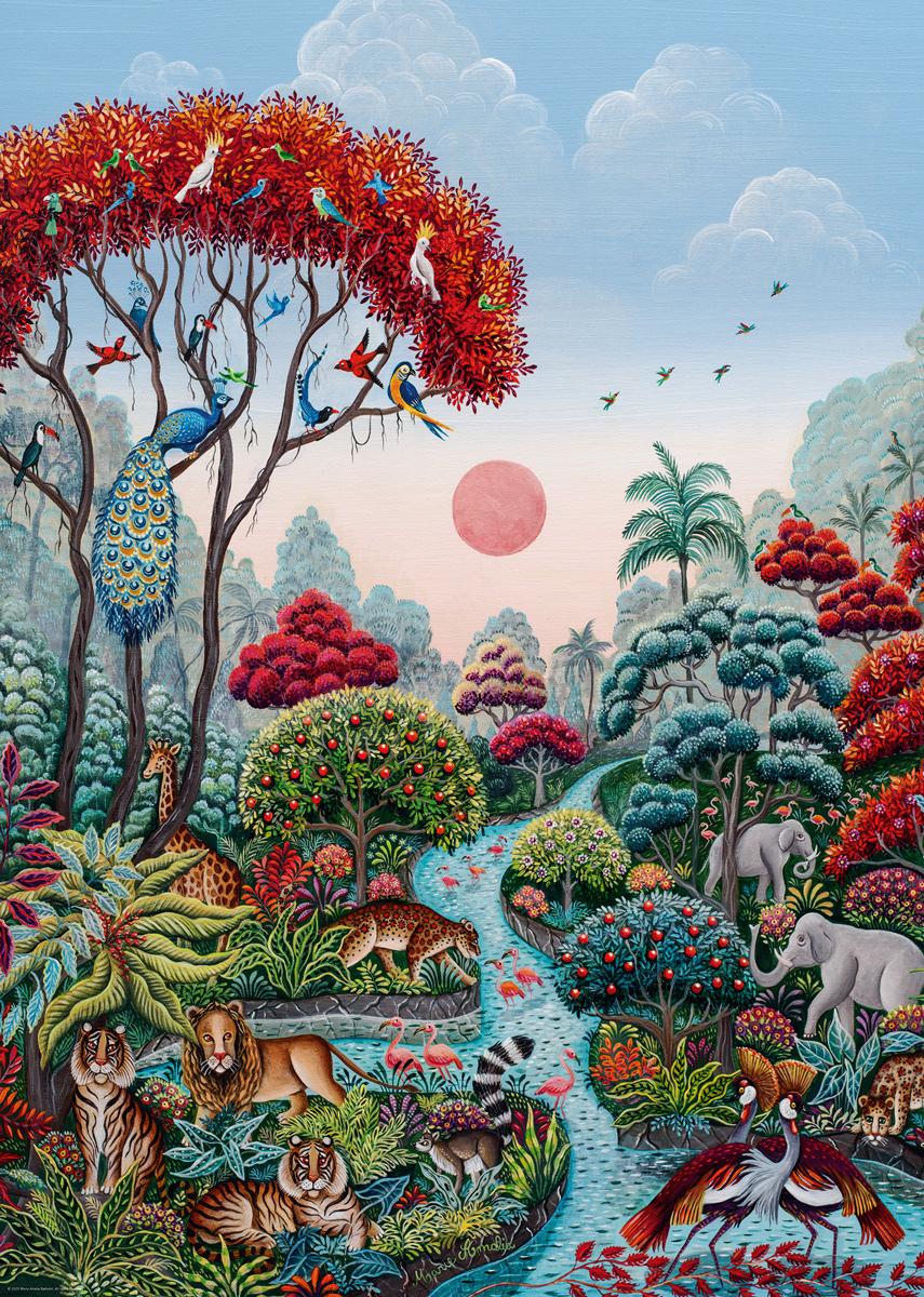 Wildlife Paradise Garden Jigsaw Puzzle