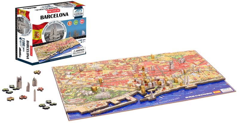 Barcelona, Spain - Scratch and Dent Skyline / Cityscape Jigsaw Puzzle