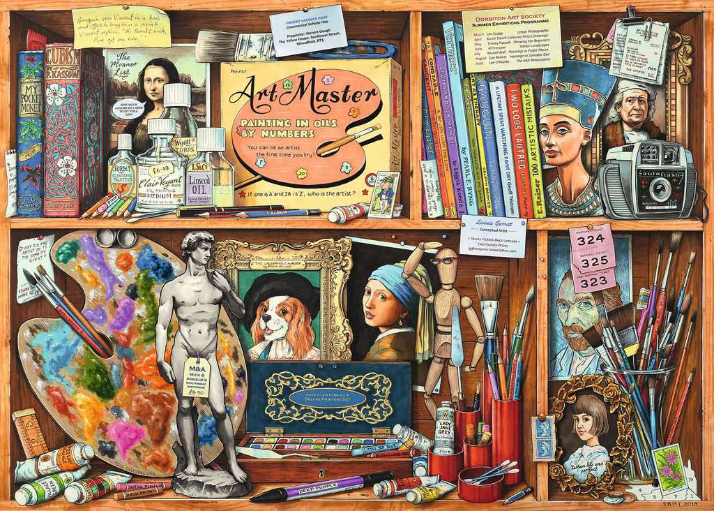 Artist's Cabinet Everyday Objects Jigsaw Puzzle