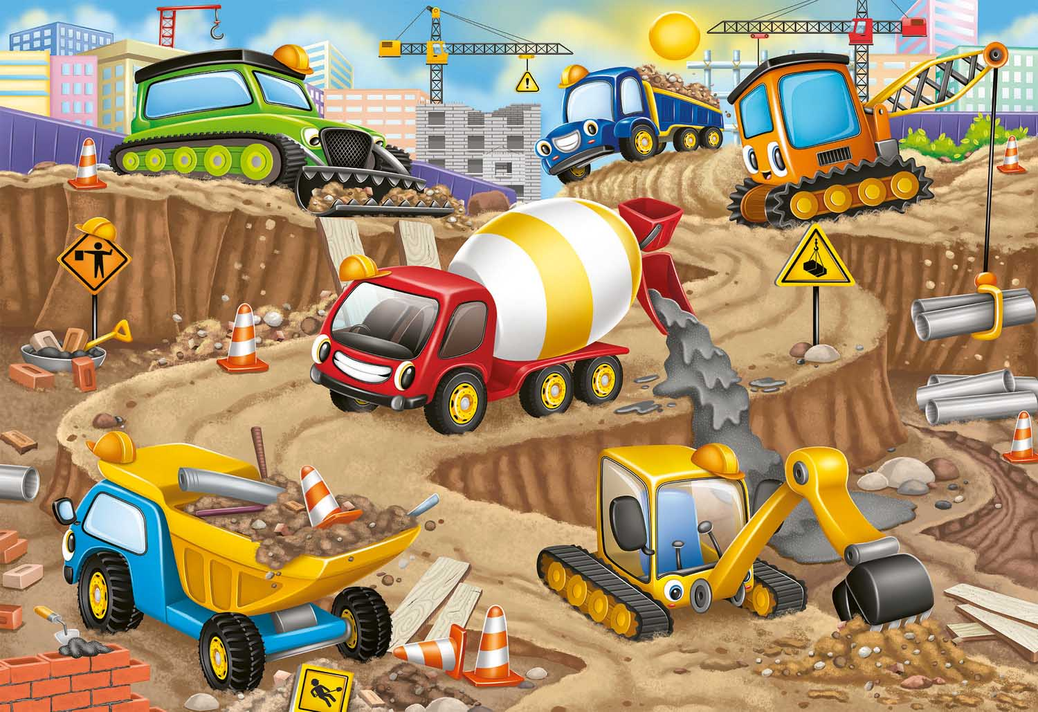 Construction Fun Vehicles Jigsaw Puzzle