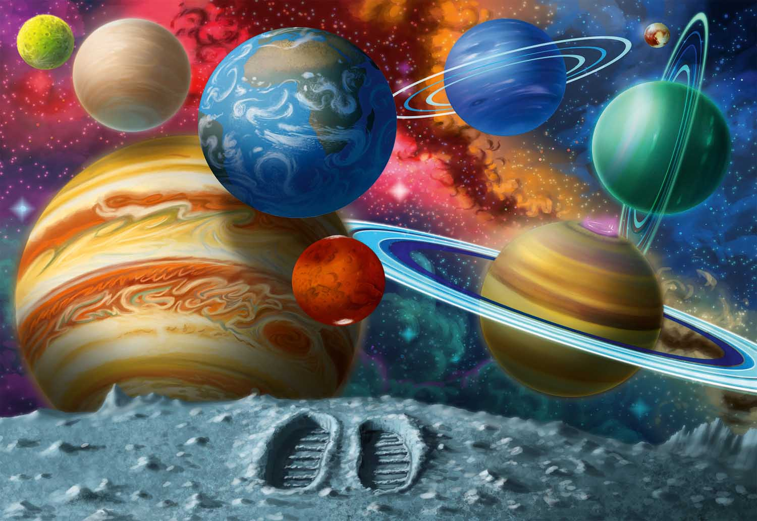 Stepping Into Space Space Jigsaw Puzzle