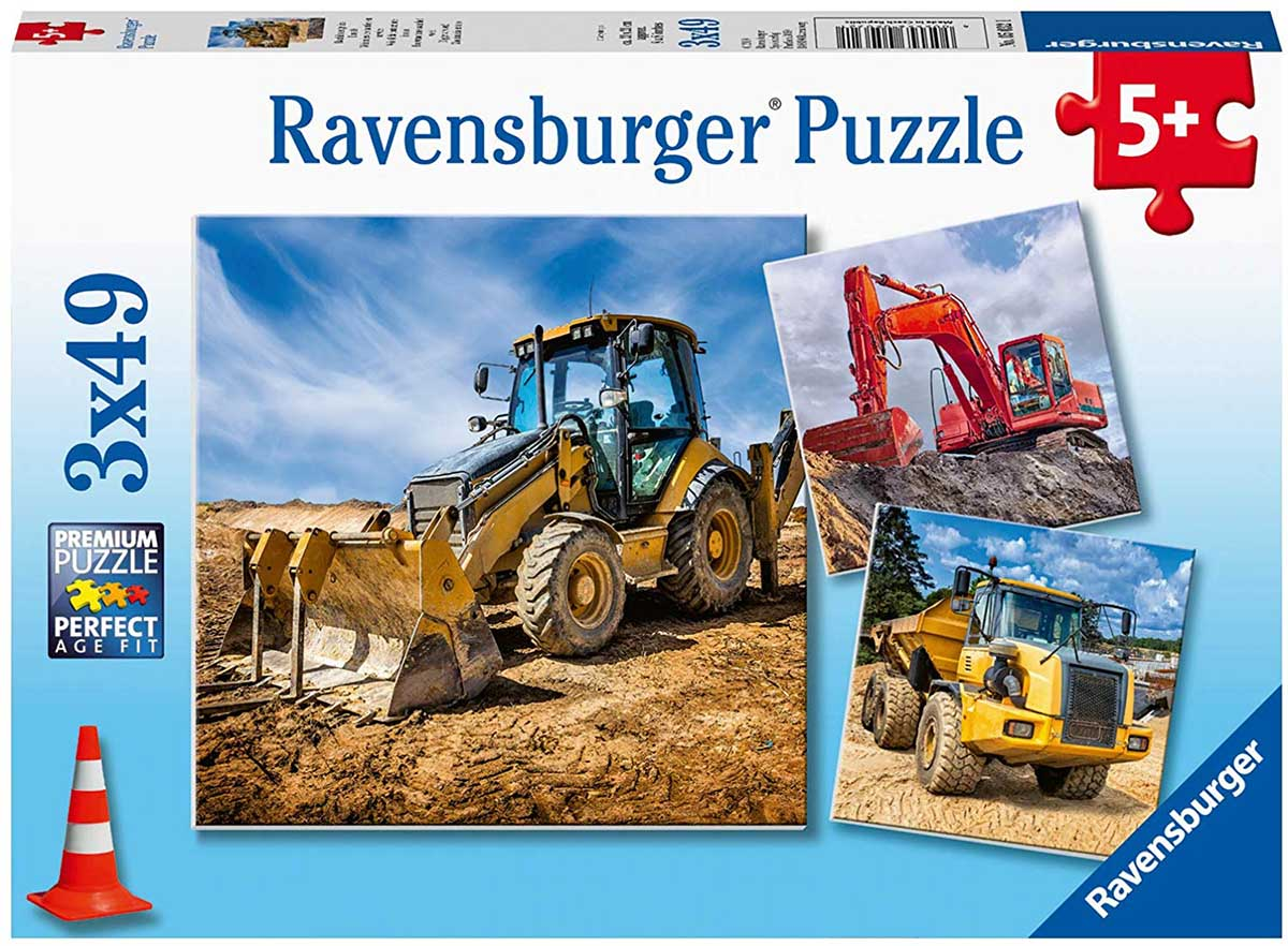 Diggers at Work Construction Jigsaw Puzzle