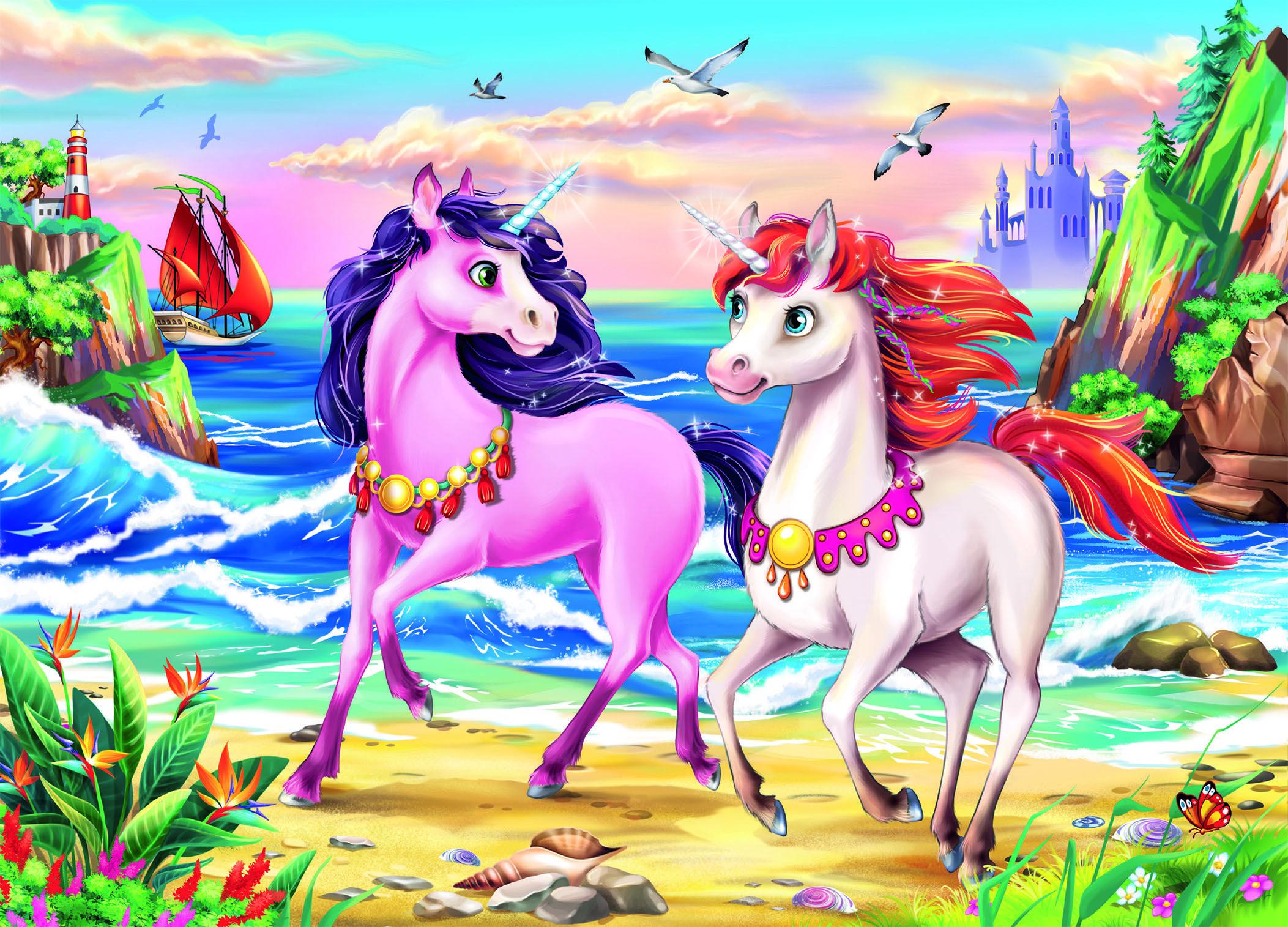 Beach Unicorns Unicorns Jigsaw Puzzle